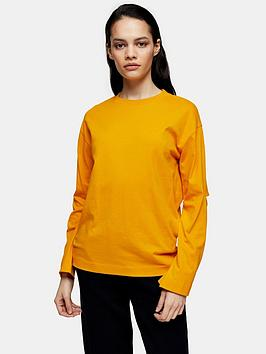 Topshop Topshop Boutique Elbow Slash T-Shirt - Orange Picture