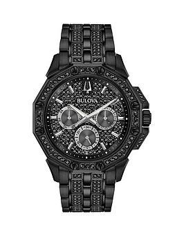 bulova-black-crystal-set-stainless-steel-bracelet-mens-watch