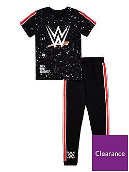 wwe-boys-t-shirt-and-jogger-set-black