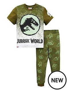 jurassic-park-boys-jurassic-world-lego-gradient-pj-set-green