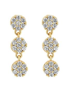 Jon Richard Jon Richard Jon Richard Bridal Gold Plated Fine Pave Allway  ... Picture