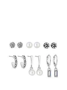 mood-mood-pack-of-six-mini-studs-and-huggie-hoop-earrings