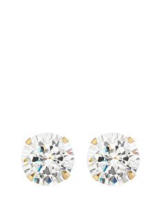 love-gold-9ct-gold-10mm-cubic-zirconia-stud-earrings