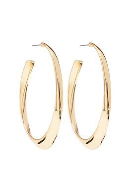 Mood Mood Gold Plated Polished Oval Hoop Earrings Picture