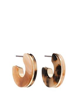 Mood Mood Gold Plated Multicolour Resin Hoop Earrings Picture