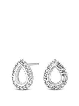 Simply Silver Simply Silver Simply Silver Cubic Zirconia Open Pear Stud  ... Picture