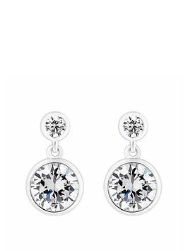 Simply Silver Simply Silver Simply Silver Mini Besel Set Solitaire Earrings Picture