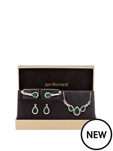jon-richard-jon-richard-emerald-pear-trio-jewellery-set