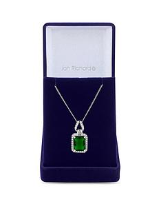jon-richard-cubic-zirconia-emerald-pendant-necklace