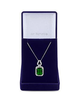 Jon Richard Jon Richard Jon Richard Cubic Zirconia Emerald Pendant Necklace Picture