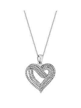 Jon Richard Jon Richard Jon Richard Cubic Zirconia Crystal Heart Pendant  ... Picture