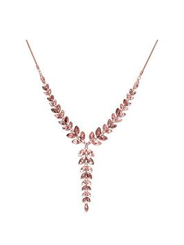Mood Mood Mood Rose Gold Plated Pink Crystal Leaf Allway Necklace Picture