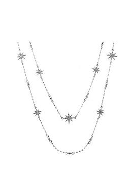 Mood Mood Mood Silver Plated Crystal Celestial Star Necklace Picture