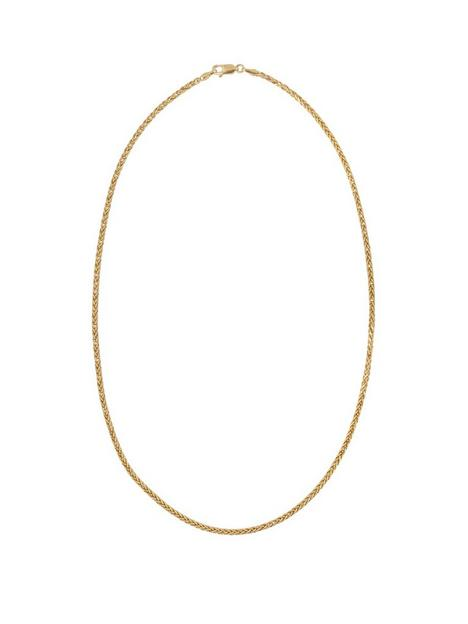 love-gold-9ct-gold-18-inch-spiga-chain-necklace