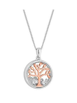 Simply Silver Simply Silver Simply Silver Rose Gold Plated Cubic Zirconia  ... Picture