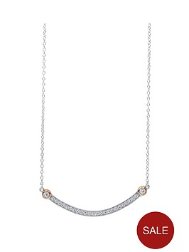 the-love-silver-collection-18ct-rose-gold-plated-silver-cubic-zirconia-bar-necklace