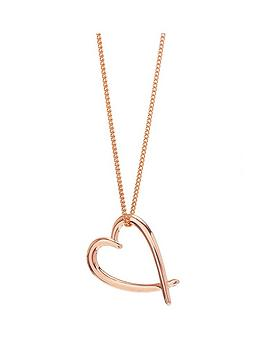 Simply Silver Simply Silver Simply Silver Rose Gold Crossover Heart  ... Picture