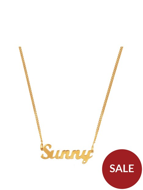 the-love-silver-collection-gold-plated-sterling-silver-personalised-script-name-necklace-on-adjustable-curb-chain