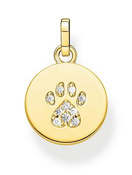 Thomas Sabo Thomas Sabo Thomas Sabo Gold Plated Sterling Silver Cat Paw  ... Picture