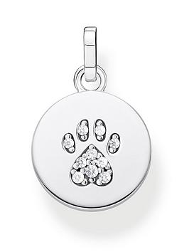 Thomas Sabo Thomas Sabo Sterling Silver Cat Paw Pendant Necklace