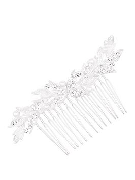Jon Richard Lexie Small Leaf Pearl Comb