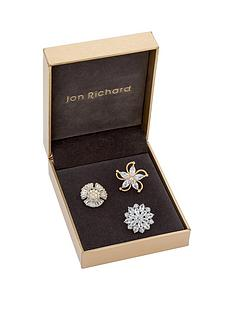 jon-richard-jon-richard-three-pack-of-crystal-flower-brooches