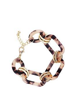mood-gold-tort-resin-link-t-bar-bracelet