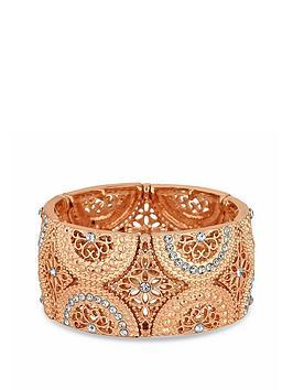 Mood Mood Mood Rose Gold Plated Filigree Stretch Bracelet Picture
