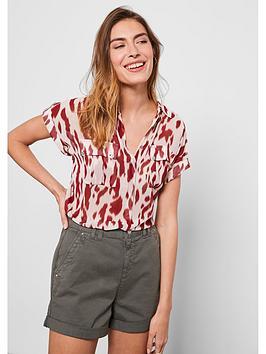 Mint Velvet Mint Velvet Pia Print Resort Shirt - Red Picture