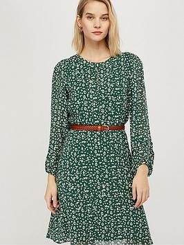 Monsoon Monsoon Marty Print Sustainable Viscose Dress - Green Picture