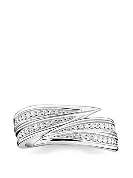Thomas Sabo Thomas Sabo Sterling Silver Leaf Ring Picture