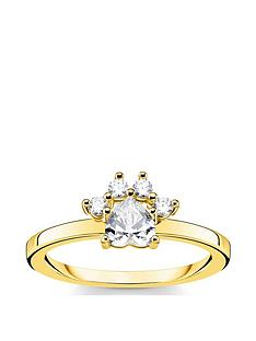 thomas-sabo-thomas-sabo-gold-plated-sterling-silver-cat-paw-ring