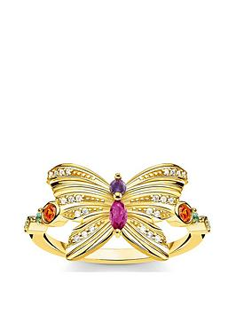 Thomas Sabo Thomas Sabo Thomas Sabo Gold Plated Sterling Silver Butterfly  ... Picture