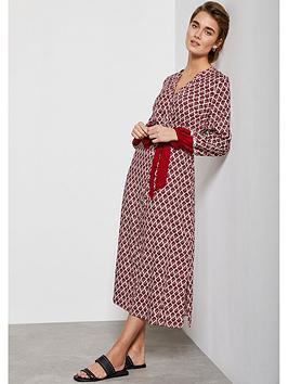 Mint Velvet Mint Velvet Samantha Print Boho Midi Dress - Red Picture