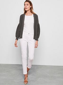 Mint Velvet Mint Velvet Houston White Zip Crop Jeans - White Picture