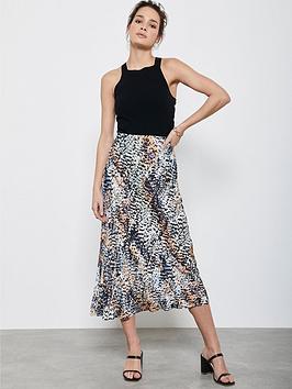 Mint Velvet Mint Velvet Harley Midi Slip Skirt - Print Picture