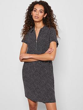 Mint Velvet Mint Velvet Spot Throw On Midi Shirt Dress - Black Picture