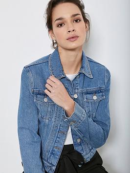 Mint Velvet Mint Velvet Indigo Studded Denim Jacket - Blue Picture