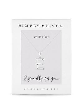 Simply Silver Simply Silver Simply Silver Polished Alphabet Initial  ... Picture