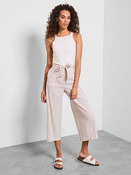 Mint Velvet Mint Velvet Pinstripe Crop Trouser - Neutral Picture