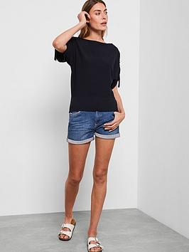 mint-velvet-ruched-overarm-jumper-navy