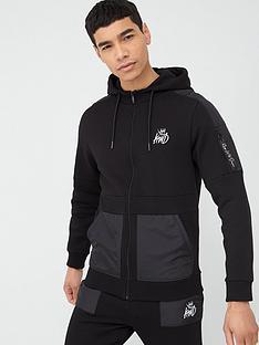 kings-will-dream-brent-zip-through-hoodie-black