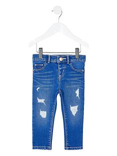river-island-mini-mini-girls-ripped-molly-skinny-jeans-blue