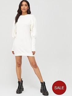 boohoo-boohoo-puff-sleeve-extreme-cuff-sweatshirt-dress-white
