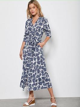 Mint Velvet Mint Velvet Olivia Print Shirt Midi Dress - Multi Picture