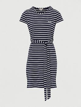 Barbour Barbour Barbour Rowlock Striped Jersey Dress - Nabvy/ White Picture