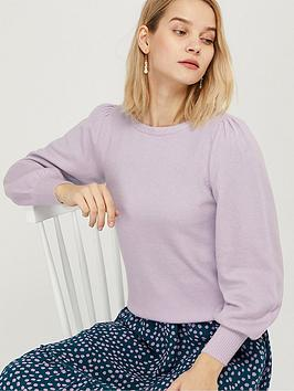 Monsoon Monsoon Blouson Sleeve Compact Jumper - Lilac Picture