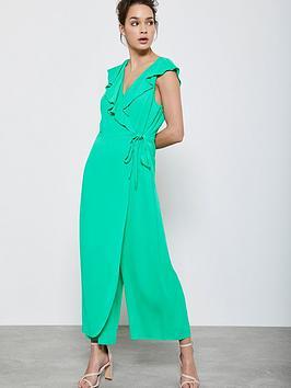 Mint Velvet Mint Velvet Wrap Detail Jumpsuit - Green Picture