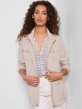 Mint Velvet Mint Velvet Studded Jacket - Neutral Picture
