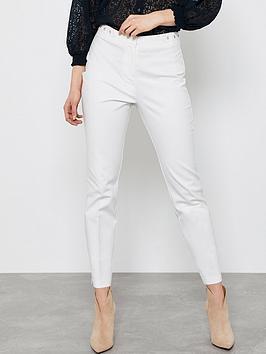 Mint Velvet Mint Velvet Eyelet Capri Trousers - Off White Picture